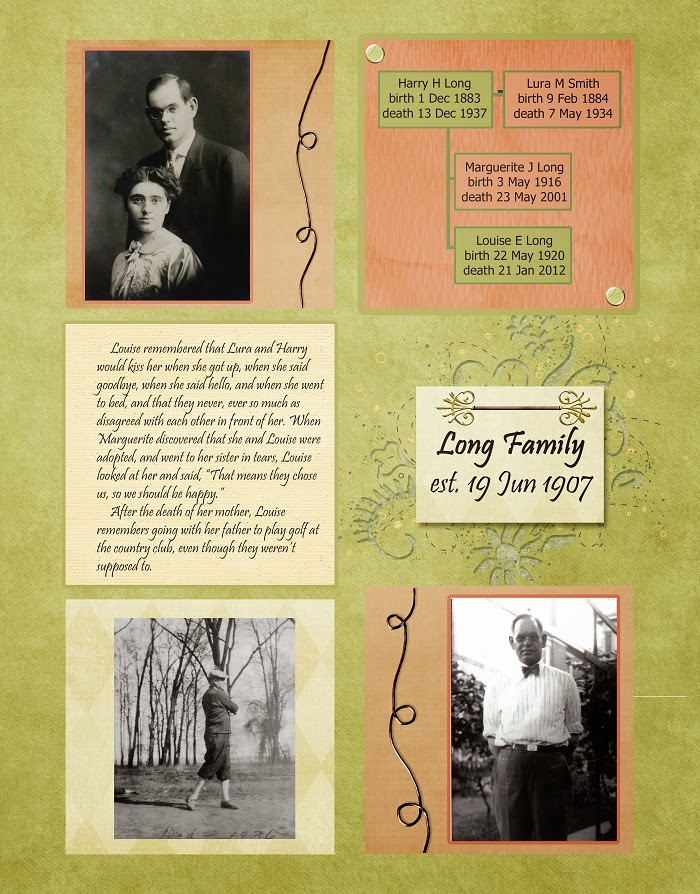 Heritage Scrapbook Layouts Fathers