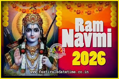 2026 Ram Navami Pooja Date & Time, 2026 Ram Navami Calendar