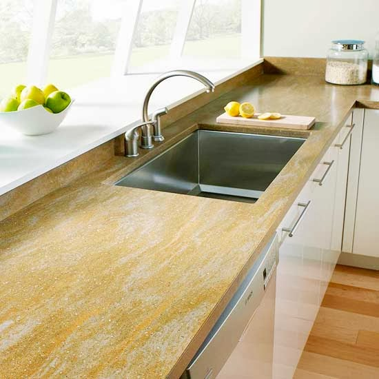 Modern Furniture: 2014 Stylish Stone Kitchen Countertop Ideas