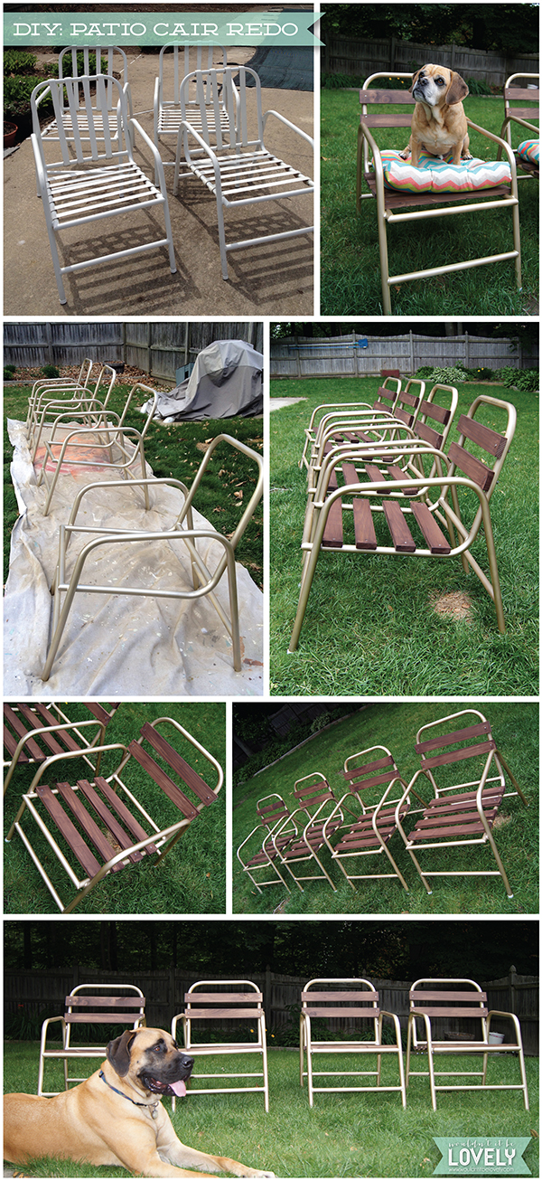 Wouldn T It Be Lovely Diy Patio Chair Before Amp After