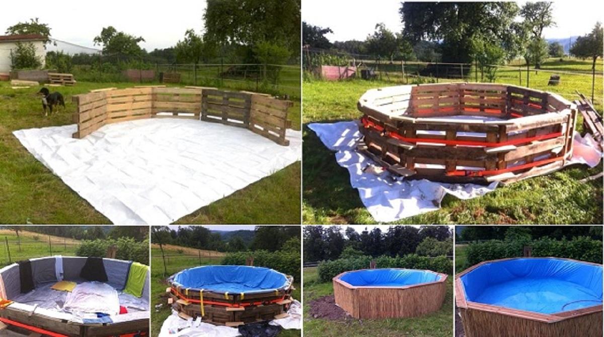 Make A Beautiful Swimming Pool With 10 Old Pallets And $80 ...