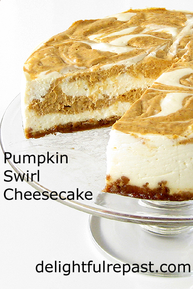 Recipes for November and Beyond (this one - Pumpkin Swirl Cheesecake) / www.delightfulrepast.com