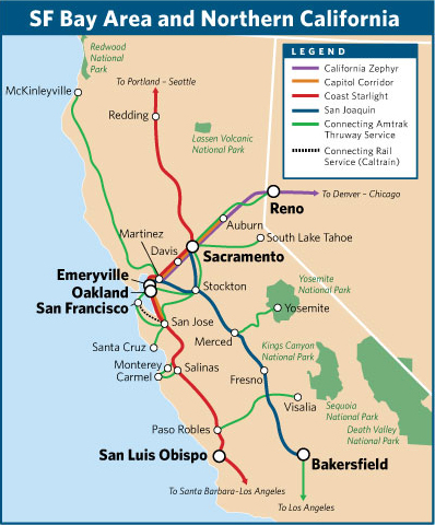 Amtrak San Joaquin finally getting 7th daily train Stop and Move