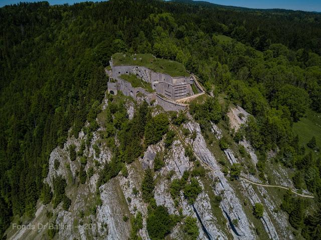 Fort du Larmont inférieur — Vue aérienne