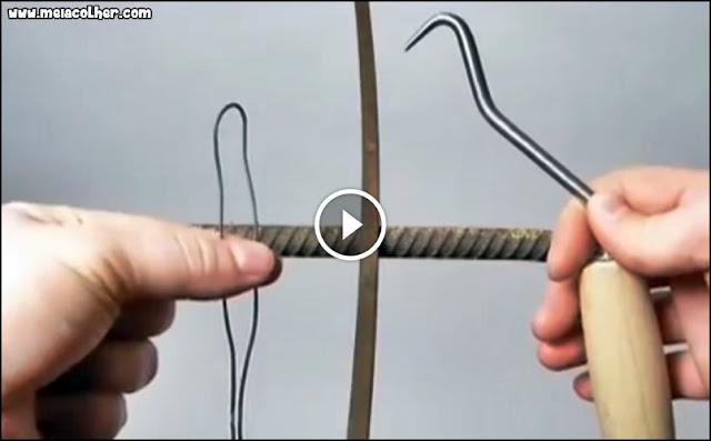 ferramenta para amarrar ferragem de construçao civil