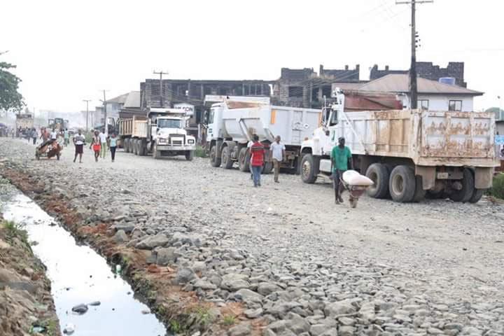 Photos: Work begins at Faulks Road, Aba