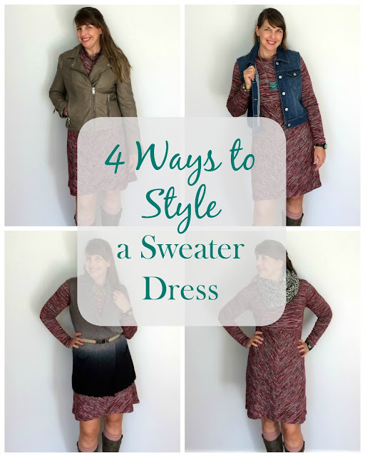 A sweater dress is a must have for fall and winter, so I am sharing four ways to style it.