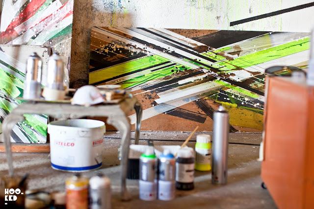 Grafuturism exhibition by artist Bartek Swiatecki AKA Pener at The Book Club, London
