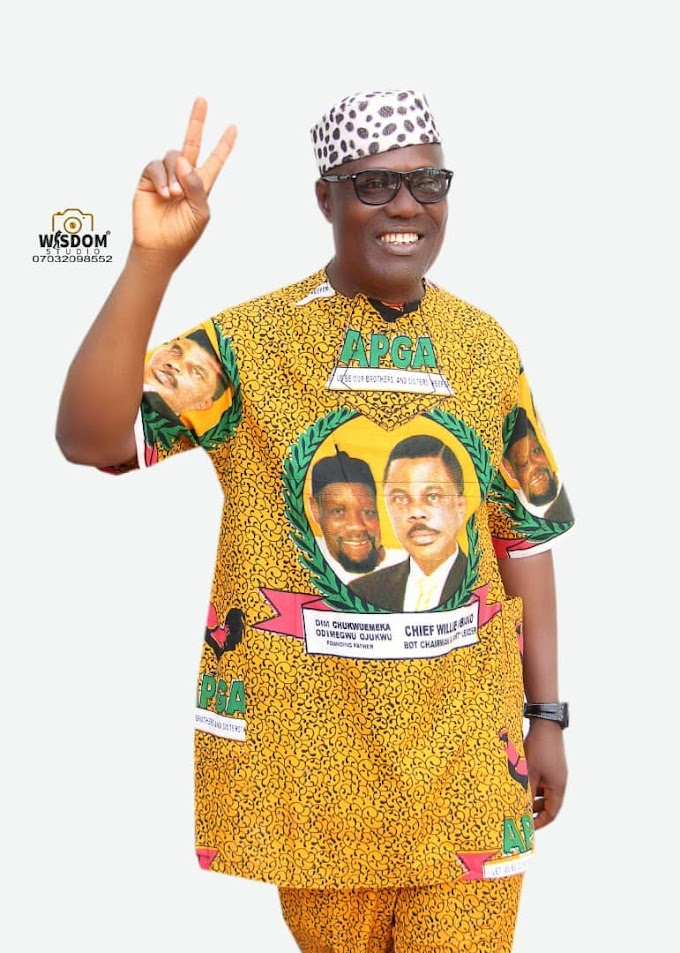 APGA WILL BE VICTORIOUS IN THE COMING ELECTIONS -- Hon. Pete Ibida  By: Ifeanyi Okonkwo