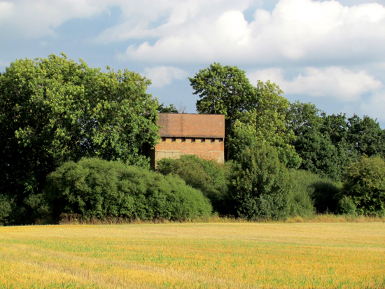 Photograph of WWII hospital water tower North Mymms Park - Image taken August 2018  Image by the North Mymms History Project, released under Creative Commons BY-NC-SA 4.0