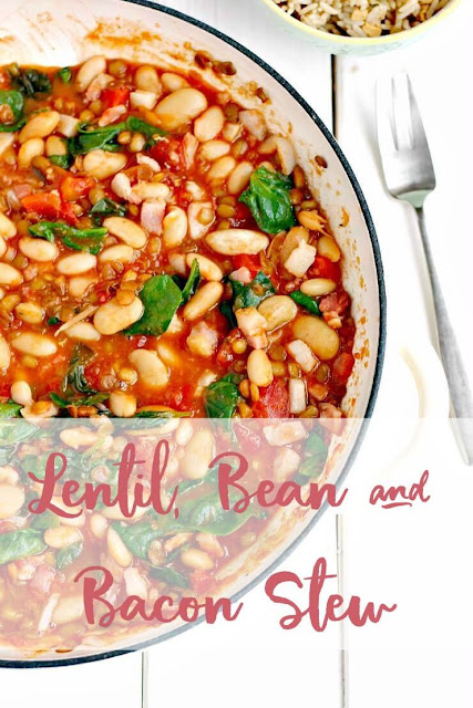Lentil, Bean and Bacon Stew