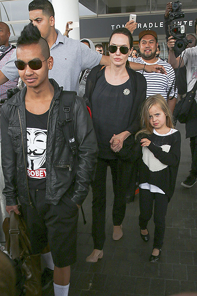 Maddox, Angelina Jolie and Vivien