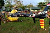 Terbang Dari Bantaeng Tujuan Makassar, Sebuah Heli Mendarat Darurat di Jeneponto