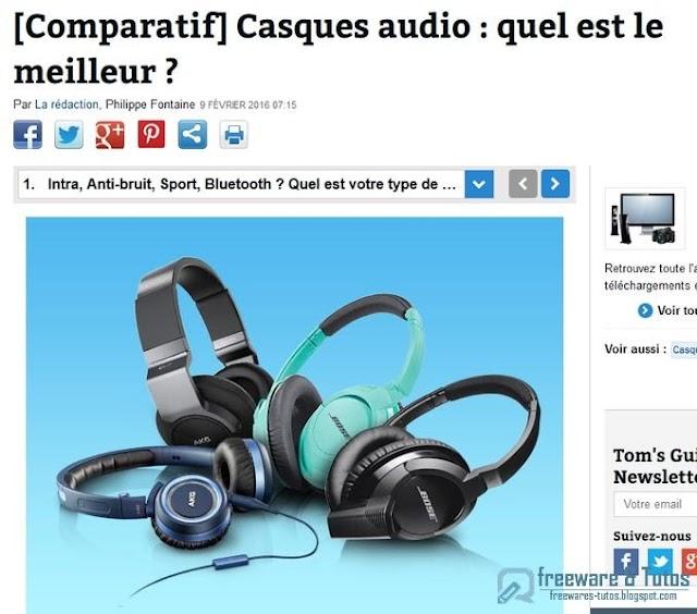 Le site du jour : Comparatif des meilleurs casques audio