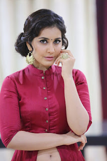 Rashi Khanna dazzling pics in Maroon color Dress
