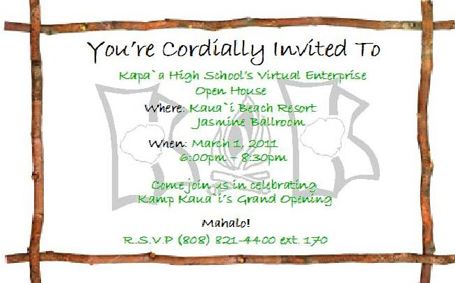 open house invitation template - business invitation templates