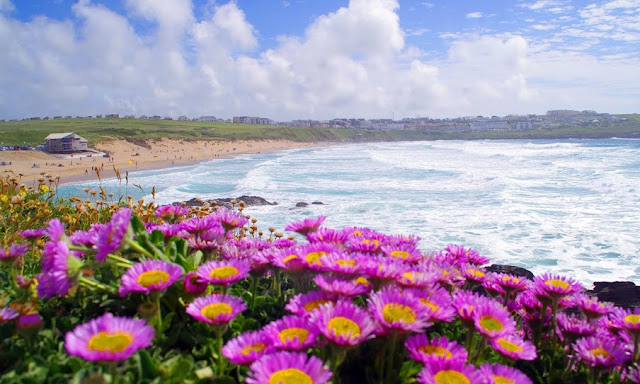 Fistral Beach Newquay Cornwall in Summer