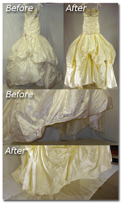 Ines Di Santo Wedding Gown Cleaning Before & After