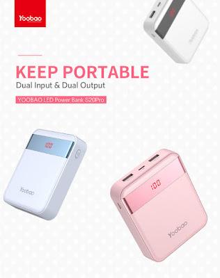 รีวิวขายแบตสำรอง Power Bank Yoobao รุ่น S20Pro LED Dual Output Universal 2