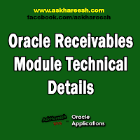 Oracle Receivables Module Technical Details, www.askhareesh.com