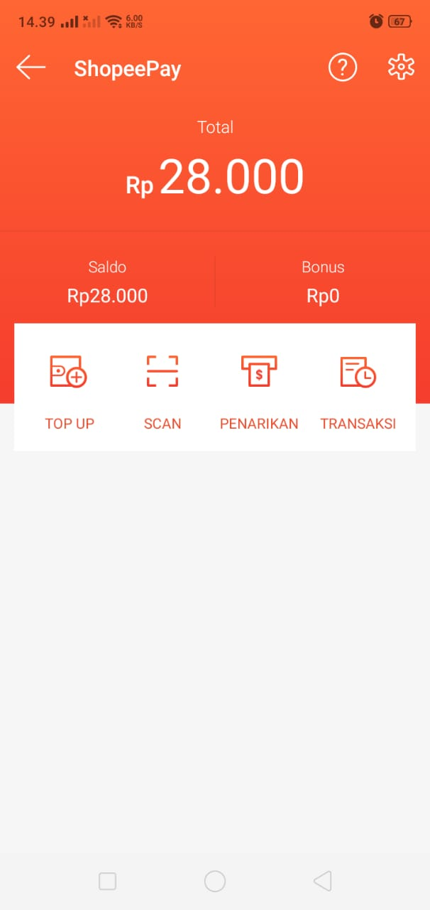 ShopeePay Menu