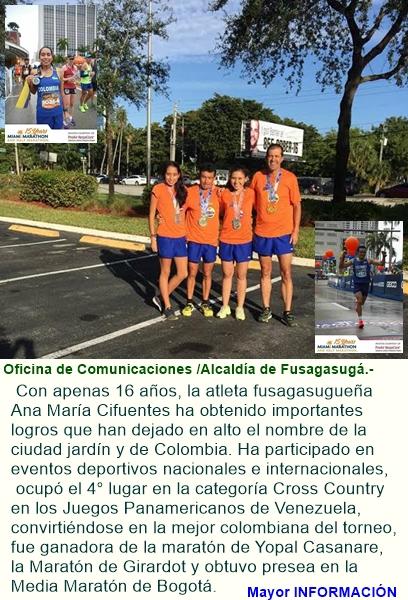 Atletas fusagasugueños sobresalen en maratón de miami