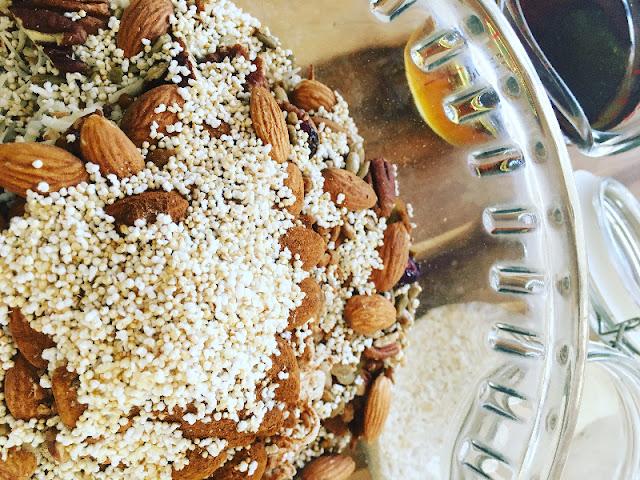 Granola Casera - Mezclando secos