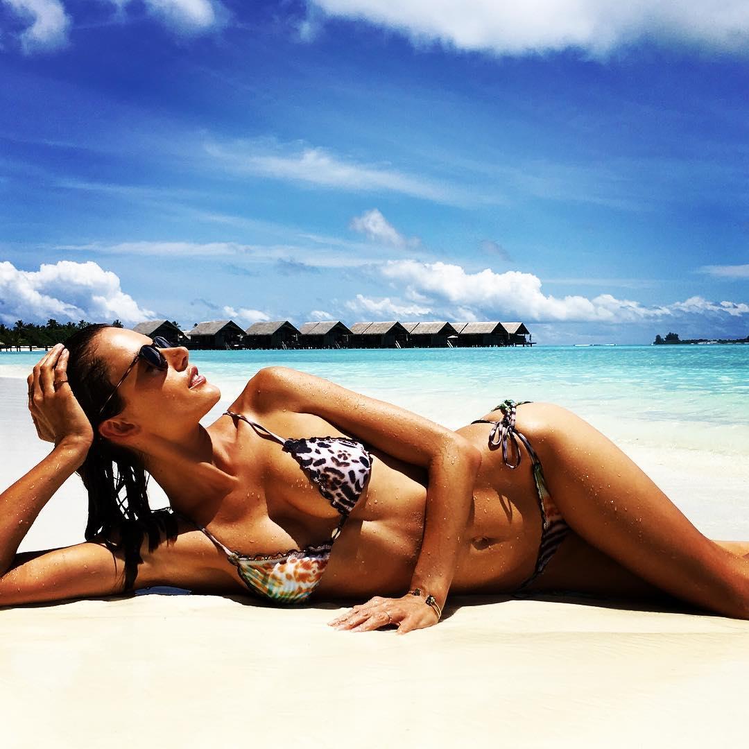 Alessandra Ambrosio Instagram Bikini Photos