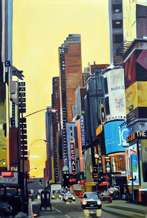 Imágenes Arte Pinturas: Paisajes Urbanos, Ciudades Coloridas de ...