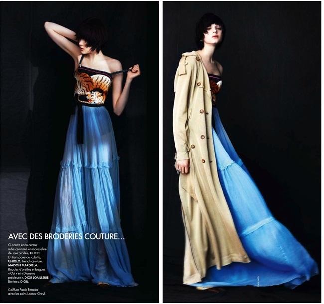 Resort 2016 Gucci Tiger Silk Chiffon Gown Editorials