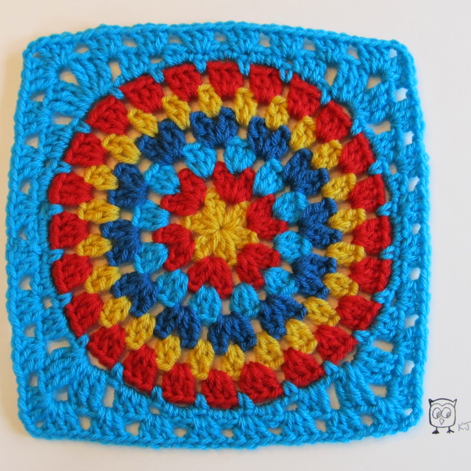 Mes favoris tricot crochet tuto crochet comment faire un rond dans un carr - Comment faire un carre ...
