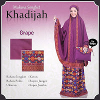 Mukena Bali khadijah songket grape