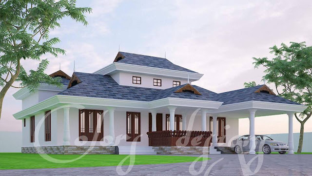 Explore 4 Bedroom Courtyard House Plan, Traditional House Plans with in-house courtyard,