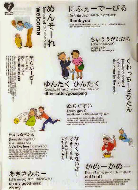 Okinawan language, Uchinaguchi,translations