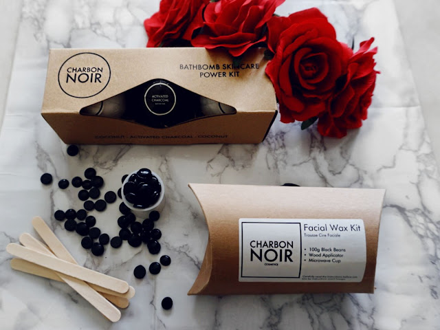 Charbon Noir Cosmetics the facial wax kit