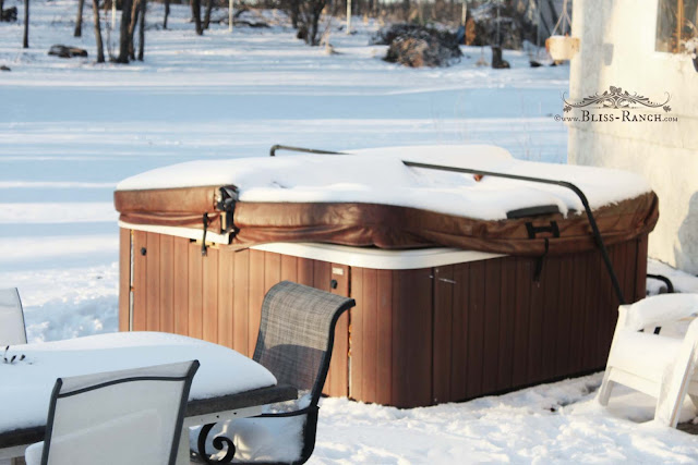 Canadian Hot Tubs Roll Up Spa Cover Patio Makeover, Bliss-Ranch.com