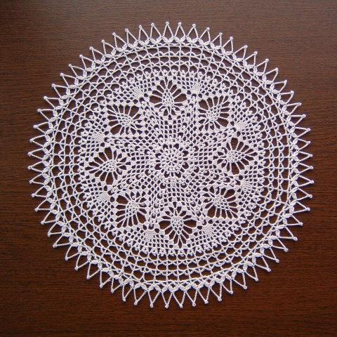 Crochet Doily pattern - lace doily white Round 33 rows no:27