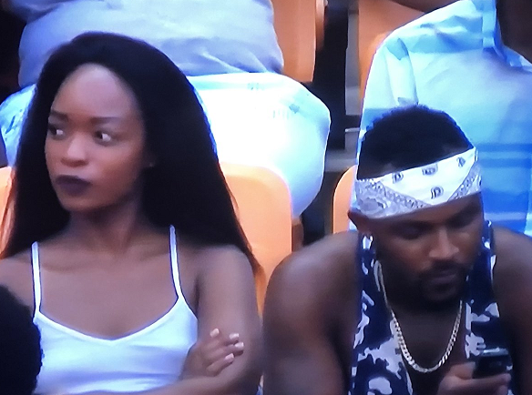 AFCON2019: Lady Hiding After Realizing Camera Was On Her