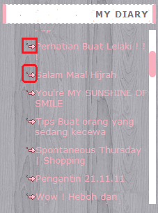 Tutorial : Cute Icon Sebelah Blog Archive