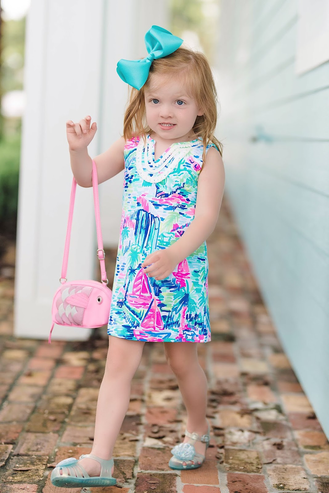 Lilly Pulitzer Girls Mini Harper Dress in Muti Salt in the Air - Something Delightful Blog