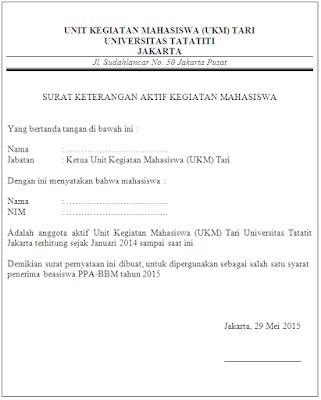 Contoh Surat Aktif Organisasi Contoh Soal Dan Materi