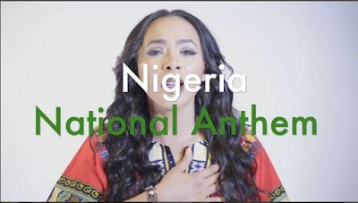 #BBNaija: Nigerians slam TBoss sister for reciting the National Anthem to shame haters