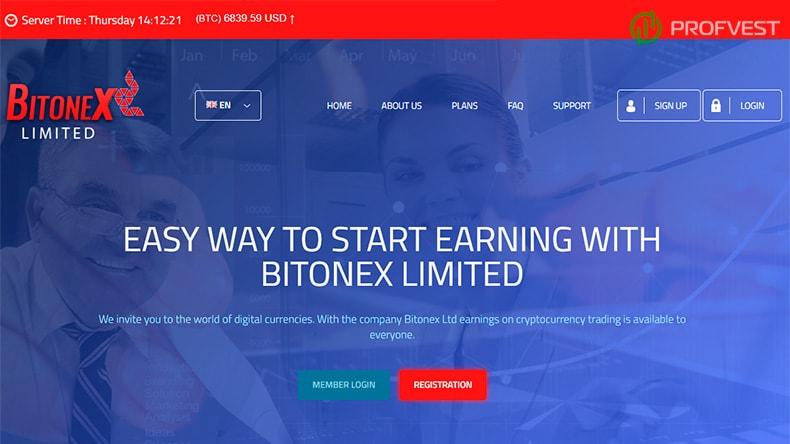 Bitonex обзор и отзывы HYIP-проекта
