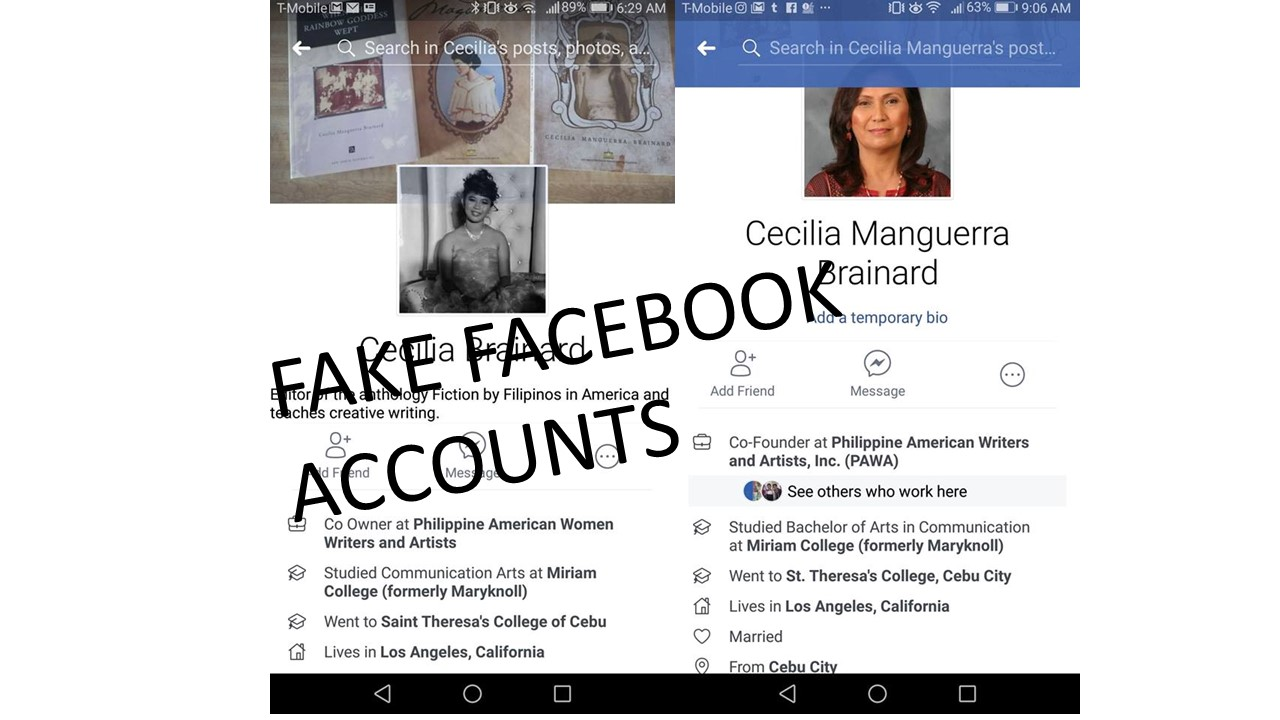 how to find if there is fake account on facebook