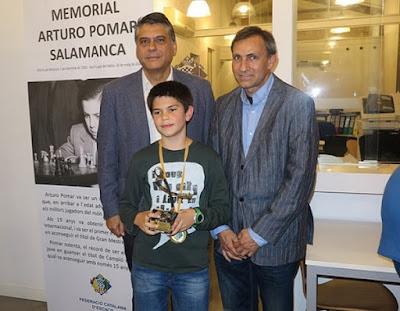 Roger Bernadó, vencedor del grupo Sub-12 del I Memorial Arturo Pomar Salamanca