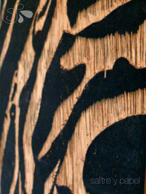 Matriz de grabado sobre madera