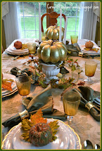 Corner Of Plaid And Paisley White Gold Fall Tablescape