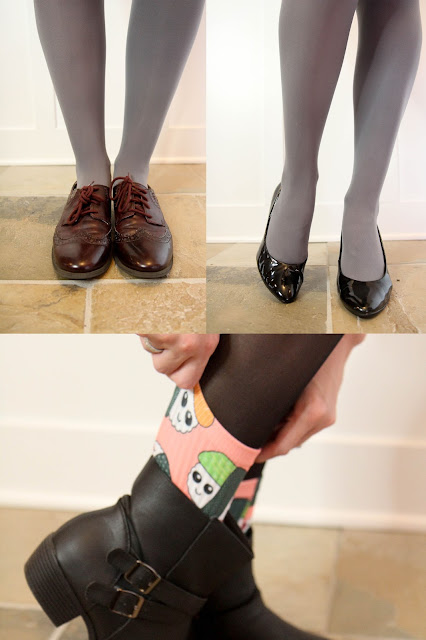 Three Different Shoe Styles to Wear with Tights