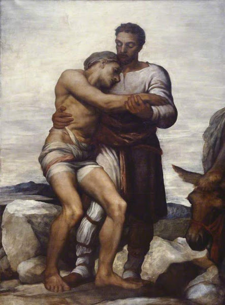 The Good Samaritan by George Frederic Watts, Macabre Paintings, Horror Paintings, Freak Art, Freak, Paintings, Horror Picture, Terror Pictures