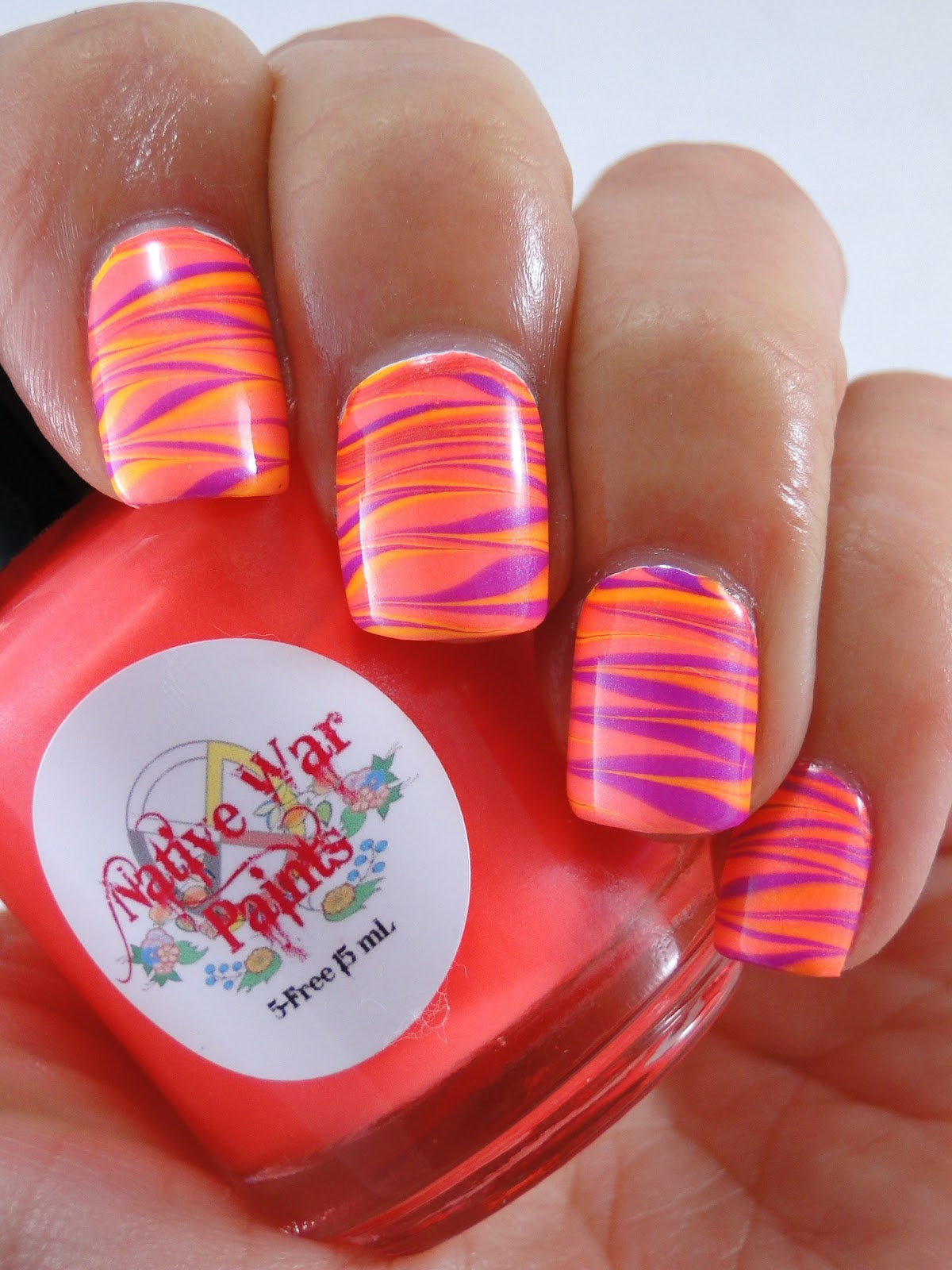 I Feel Polished!: More Neon Water Marbling!